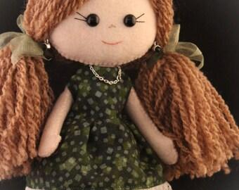 Felt doll - May - Gingermelon doll