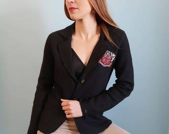 Vintage Navy Blue TOMMY HILFIGER Sweater/Blazer with Crest
