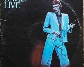 David Bowie David Live At The Tower Philedalphia Original 1974 Classic Rock Vintage Vinyl Record Album LP