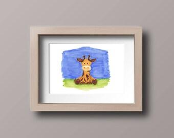 Ginny Giraffe Nursery art