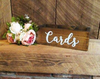 Card box, wood card box, rustic card box, rustic wedding decor, card holder, gift table box, cards, wedding card holder, wedding decor
