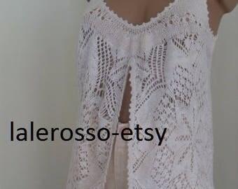 Summer Top Bohemian Women Lace Blouse- SIZE -S ,M-L 100% COTTON