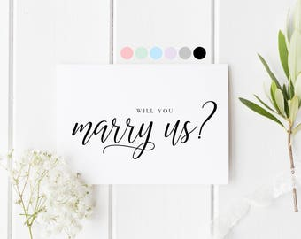Will You Marry Us Card, Will You Be Our Officiant, Officiant Wedding Card, Card To Priest, Will You Be Our Officiant, Will You Marry Us?