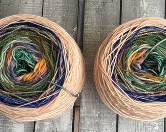 Hand Dyed Yarn - Fairy Cakes, Gradient Yarn,Mini Skeins, Toad Hollow Yarns, Magic Yarn Ball, Sock Yarn, Hand Dyed Yarn Gradient,Indie Dyed
