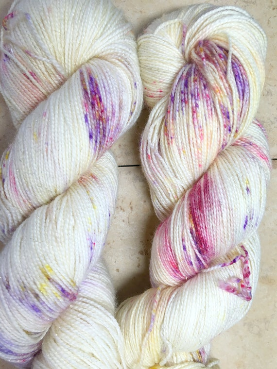 Hand Dyed Yarn, Pixie Dust, DYED TO ORDER, 100 grams,indie dyed yarn,knit & crochet