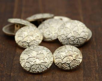"Rose Gold Metal Bronze Jacket Button. Copper Metal Button. Shank Button. 36L / 23mm/ 15/16"" 25mm/ 40L / 1"" MC01"