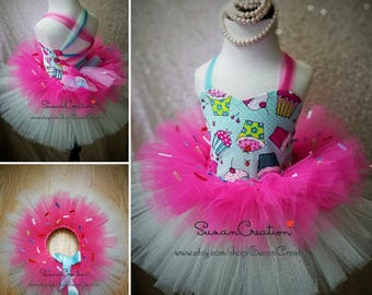 Sweets outfit, Donut tutu, Cupcake tutu, Cupcake outfit, Donut Outfit, Sprinkles Tutu, Tutu with sprinkles, Ice cream tutu