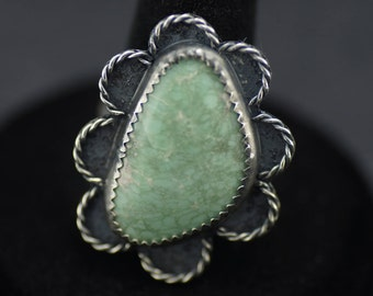 Green Variscite Ring US Size 6.5