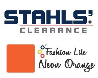 "12"" x 4 Yards - Stahls' Fashion Lite - Smooth - Craft Roll - Iron-on - Heat Transfer Vinyl - HTV - Neon Orange"