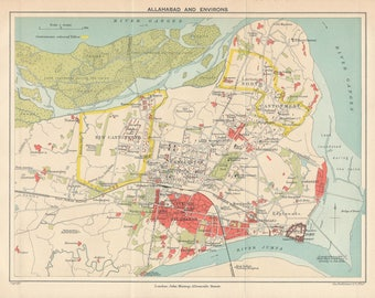 Allahabad Map Etsy - Allahabad map
