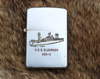 Vintage USS El Dorado AGC-11 Zippo