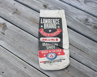 Canvas Lawrence brand steel shot bag 25 lbs of No 8 steel shot
