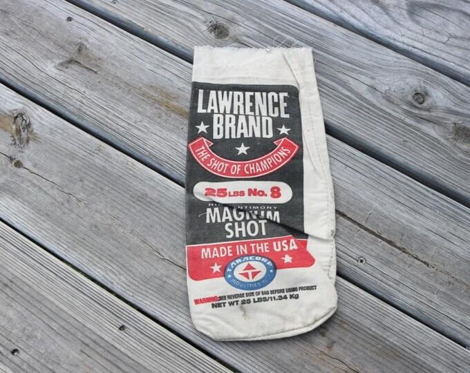 Canvas Lawrence brand steel shot bag 25 lbs of No 8 steel shot