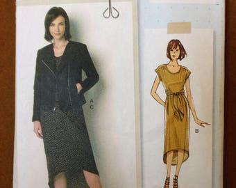 Butterick B6169 - Lisette Hi Lo Hem Dress and Jacket - Size 14 16 18 20 22