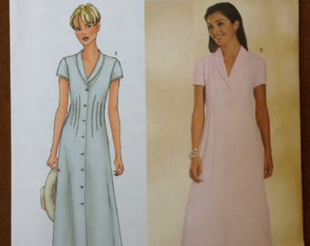 Butterick 6457 - Three Hour Button Front Dress with Waist Dart and Shawl Collar - Size 18 20 22