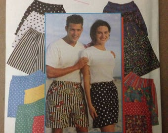 Simplicity 9057 Unisex Pull On Shorts  - So Easy - Size XXS XS S M L XL