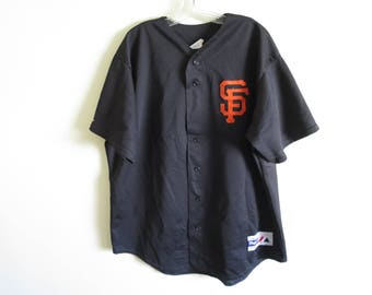 Vintage 90's San Francisco Giants batting practice mesh baseball jersey by Majestic | XL (tag size) XL (fit) | Made in USA