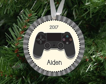 Personalized Video Game Remote (PS) Ornament Keepsake - Custom Made to Order - 2017