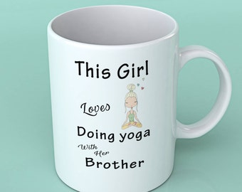 Yoga lover gifts -This girl loves doing yoga with her Dad