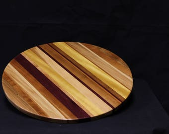 207 Exotic Striped Lazy Susan