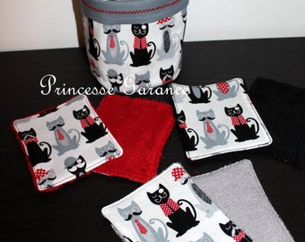 12 wipes, cotton cats whiskers, sponge, small matching pouch, to order