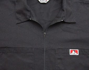 Vintage Ben Davis Black work shirt USA MADE XL