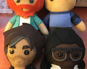 Dream Daddy DDADDS Fleece Plush Dolls