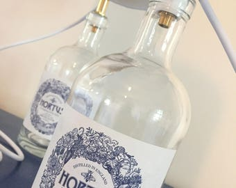 Gin Bottle Lamps - Pair