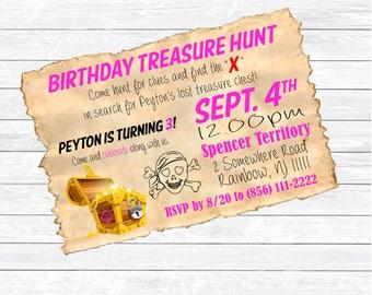Custom Pirate Birthday Invite