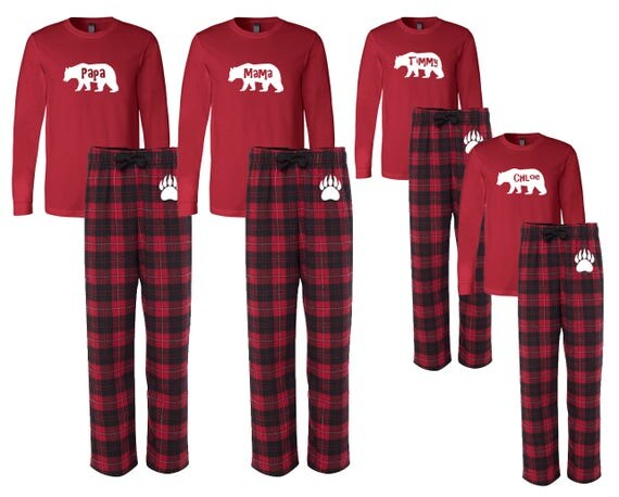 Items Similar To Personalized Family Matching Flannel