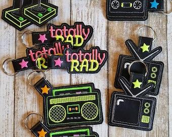 80's TOTALLY RAD Key Chain