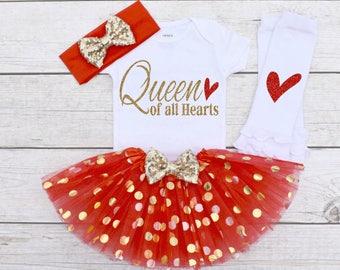 valentine shirt queen of all hearts girls valentines day outfit valentine outfit girl