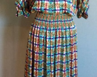 Vintage 1980's Maggy London by Jeannene Booher 100% Silk Dress