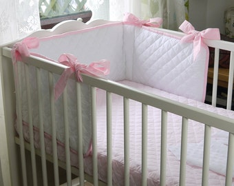 Fitted Crib Sheet, Quilted, Crib Bedding, Cot Bedding, Nursery Bedding, Gender Neutral Nursery Bedding