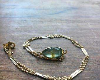 Lodolite in Gold// Lodolite Pendant Necklace in Gold