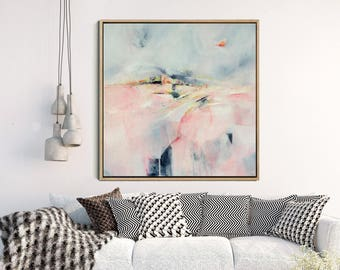 Abstract Landscape Art Print, Abstract Giclee Print , Pink And Grey, Modern Art Abstract, Contemporary Wall Art, Abstract Expressionist Art