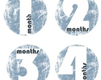 Month Stickers Baby Month Stickers Milestone Stickers Baby Week Stickers Free Gift Baby Shower Monthly Baby Decals Baby Feet stick