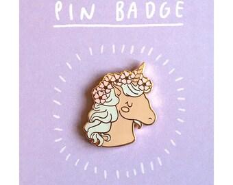 Unicorn Enamel Pin | cute unicorn pin badge