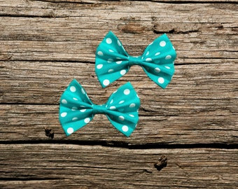 Blue Polkadot Pet Bow Tie