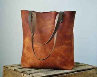 Rustic leather tote bag, leather bag, leather purse, leather tote bag, leather shoulder bag, leather handbag, distressed leather