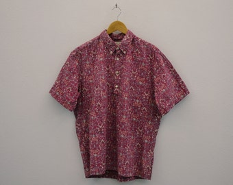 Cooke Street Shirt Men Size S Vintage Cooke Street for Liberty House Hawaiian Pullover