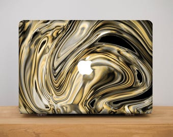 Black Gold Macbook Case Dark MacBook Pro 13 Case Marble Macbook Air 13 Case Macbook Air 11 Case MacBook Pro Retina 15 Macbook 12 Case PP2097