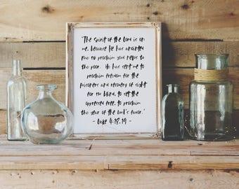 Luke 4:18-19 | Isaiah 61v1-2 | The Spirit Of The Lord Is On Me | Faith Printable | Christian Wall Art | Scripture Art | Christian Decor