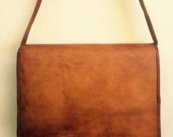 Leather satchel, Leather laptop bag, Leather bag, Men's leather satchel