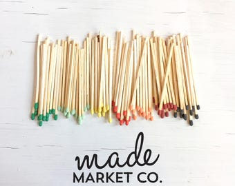 Refill Tip Colored Matches. Match Sticks Decorative. Farmhouse Home Decor. Unique Gifts for her. Wholesale, Best Seller, Most Popular Item