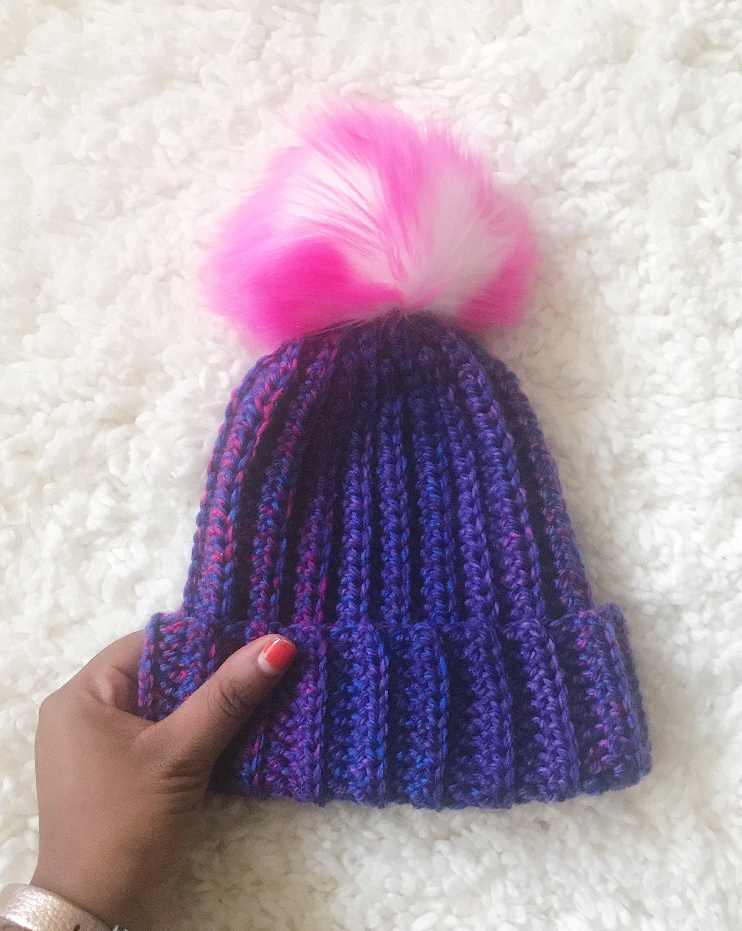 Unicorn Ribbed Beanie (Newborn - Toddler Sizes)    Knit-Style Winter ... 2750b6bb6ab