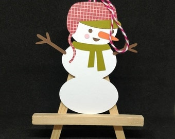 Snowman gift tag, pack of 5