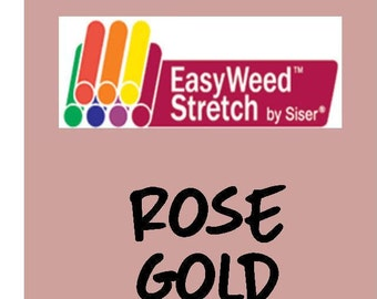 Siser EasyWeed Stretch Heat Transfer Vinyl - HTV - Rose Gold