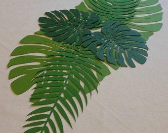 Tropical Leaves Set, Tropical Leaves, Tropical Leaf, Tropical Leaf Runner, Tropical Party Decor