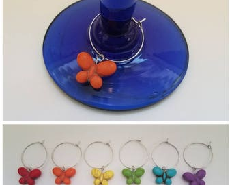 Butterfly Wine Glass Charms (Set of 6)
